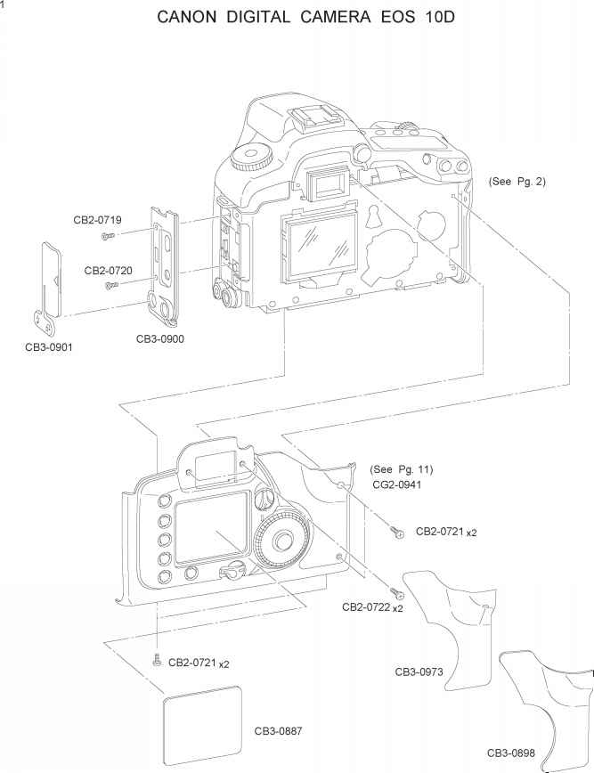 parts catalog canon eos 10d repair canon camera experts rh cameraexperts us canon 50d service manual Canon 30D