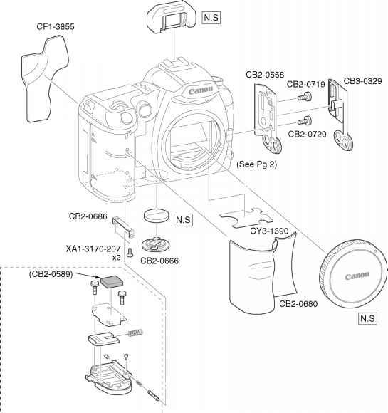 parts catalog - canon eos d60 repair