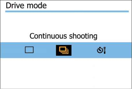 Canon Continuous Shot Icon